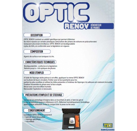 OPTIC RENOV - RENOVATEUR DE PHARE